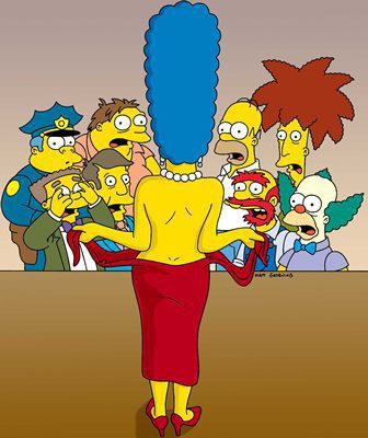 Marge Simpson Topless