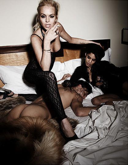 Lindsay Lohan Threesome