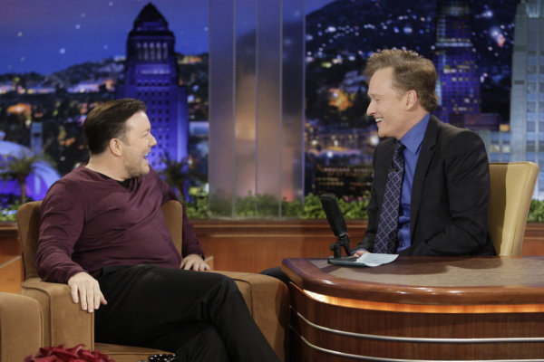 Conan O'Brien and Ricky Gervais