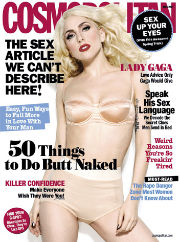 Lady Gaga Cosmo Cover