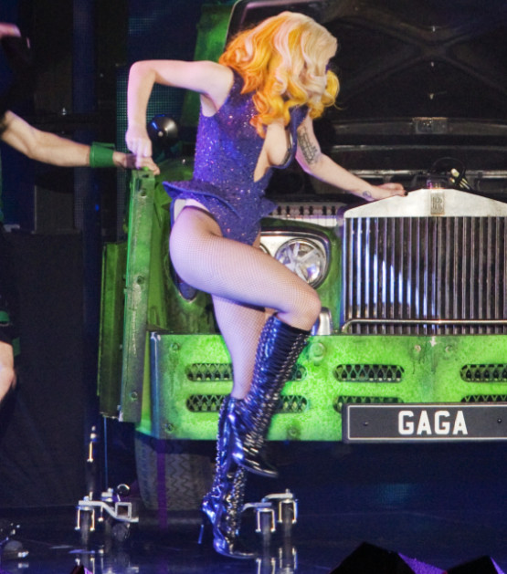 Lady Gaga Side Action