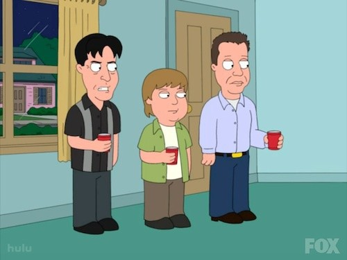 Charlie Sheen on Family Guy