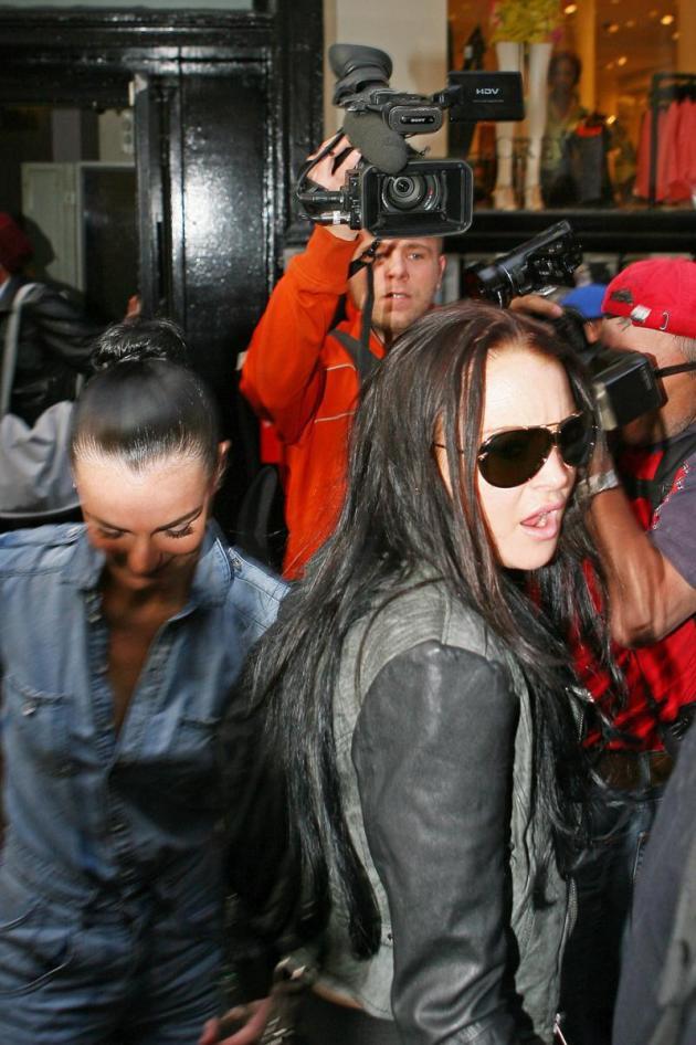 Ali and Lindsay Lohan Rollin'