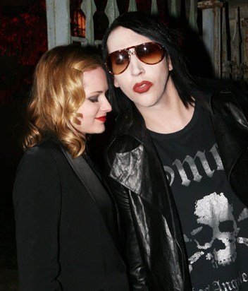 Evan Rachel Wood and Marilyn Manson Pic
