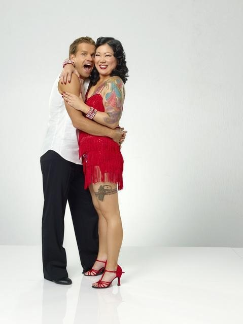 Margaret Cho and Louis Van Amstel