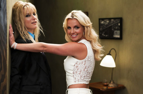 Britney Spears and Heather Morris