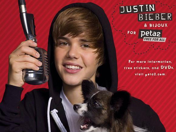 Justin Bieber for PETA