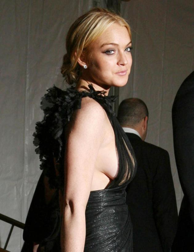 Lindsay Lohan Nipple Slip