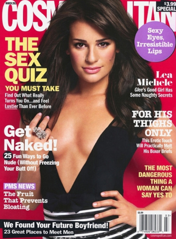 Lea Michele  on Cosmo Cover