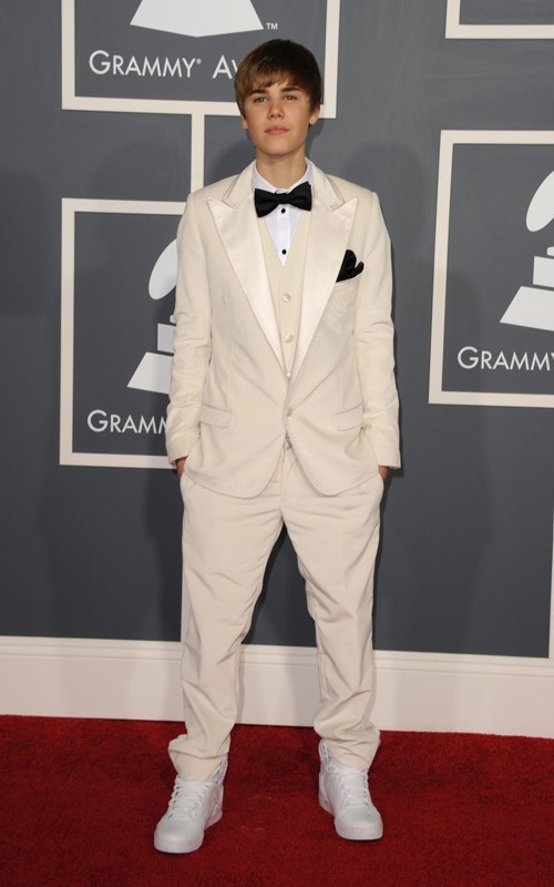 Justin Bieber at the Grammys