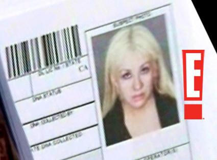 Christina Aguilera Mug Shot