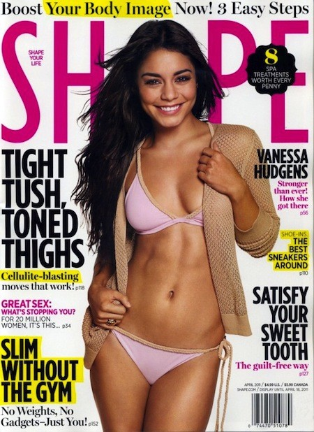 Vanessa Hudgens on Shape Cover