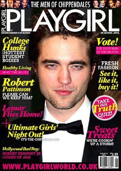 Robert Pattinson Playgirl Cover