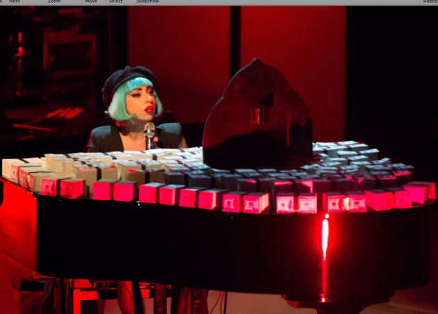 Gaga at the Piano