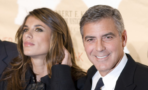 George Clooney with Elisabetta Canalis