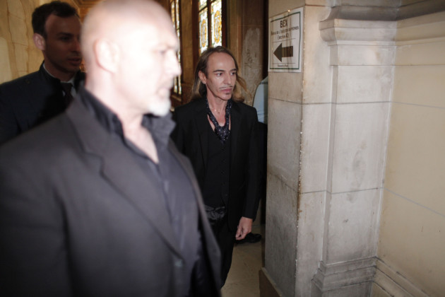 John Galliano Enters Court