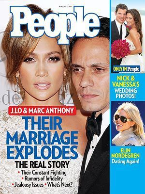 Jennifer Lopez and Marc Anthony People Cover