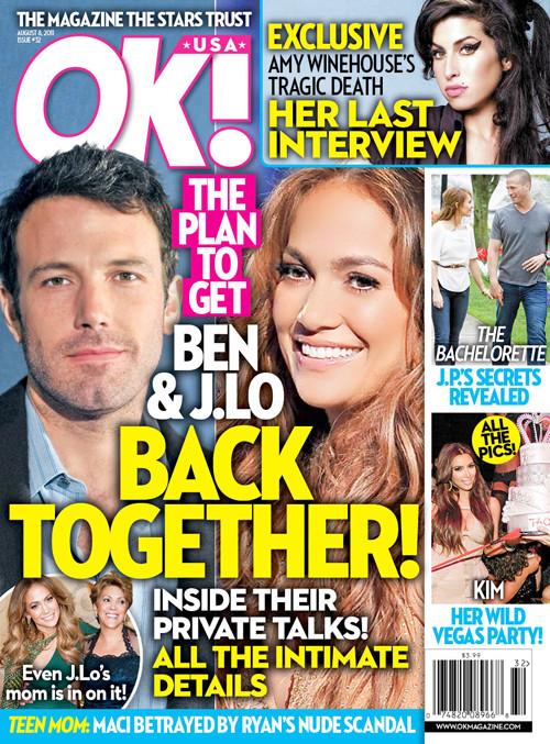 J. Lo and Ben Afflec Cover