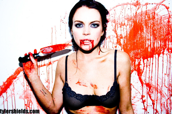 Lindsay Lohan Covered in Blood