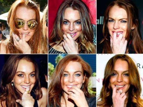 Lindsay Lohan Posing