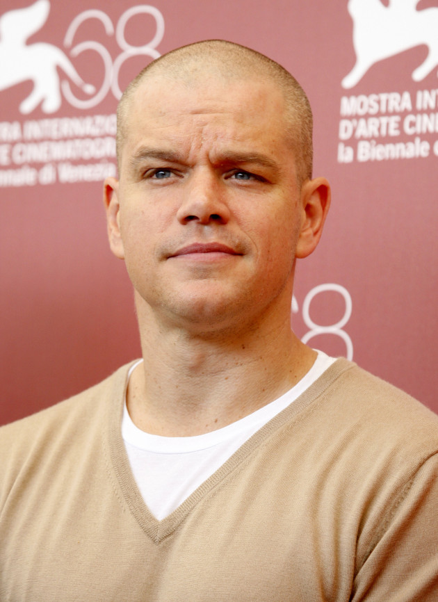 Bald Matt Damon