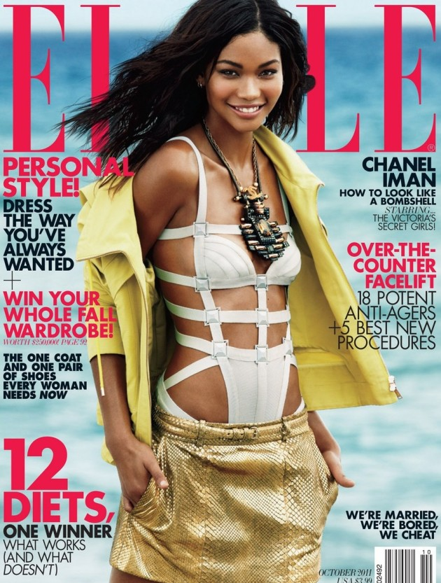 Chanel Iman Elle Cover