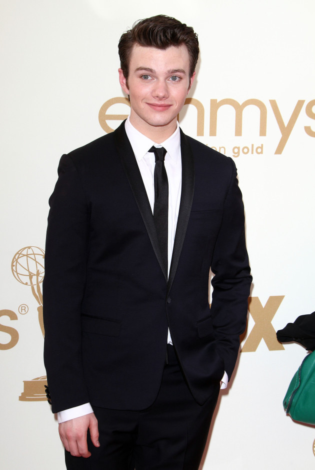 Chris Colfer at the Emmys