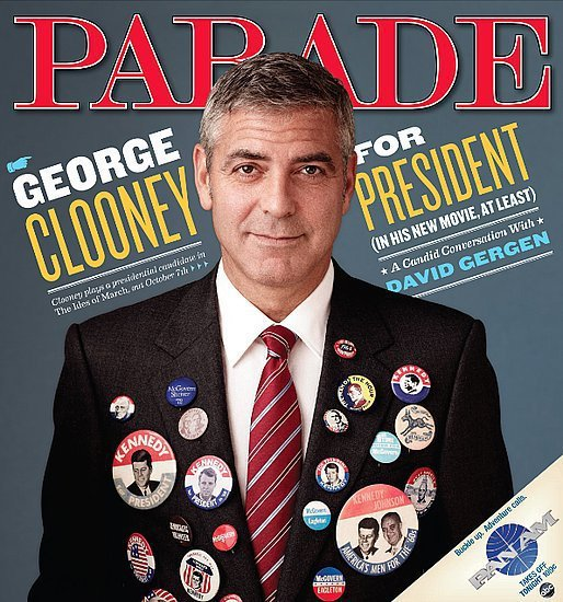 George Clooney Parade Cover
