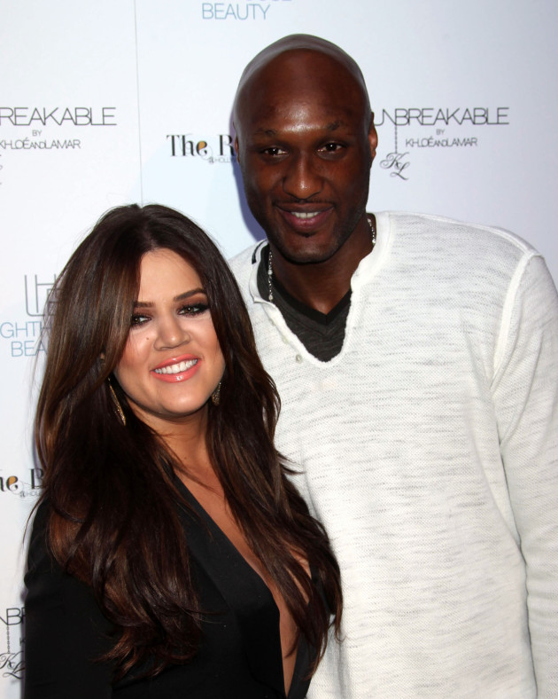 Khloe Kardashian and Lamar Odom Photograph
