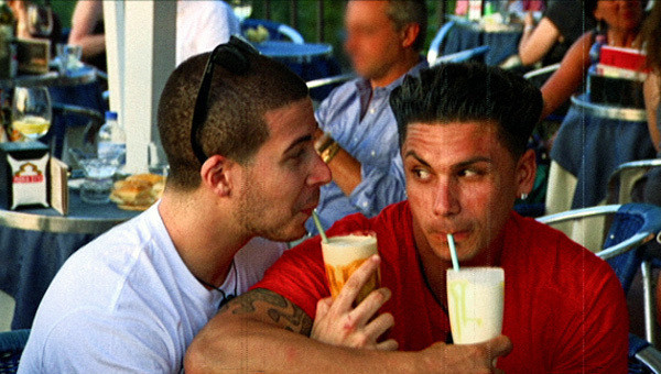 Pauly D and Vinny Snuggle