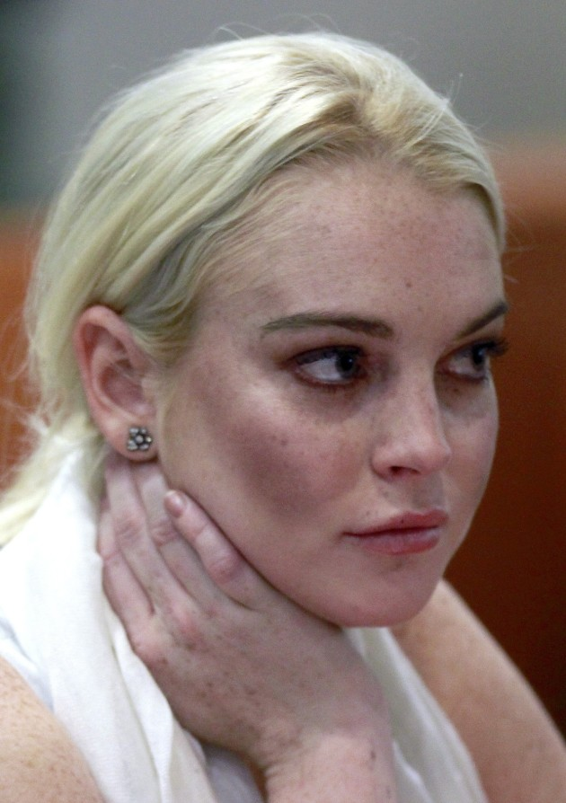 Lindsay Lohan in a Courtroom