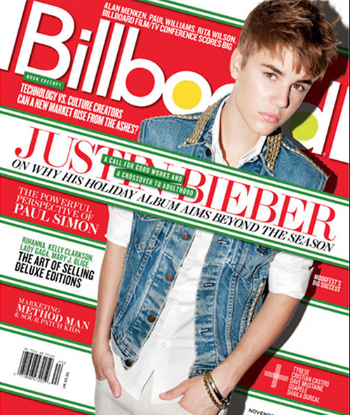 Justin Bieber Billboard Magazine Cover