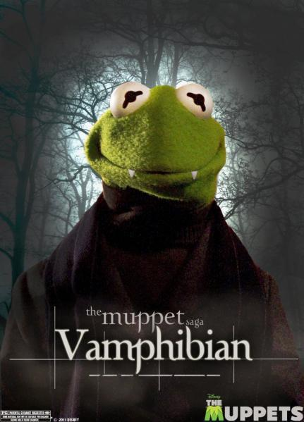 Muppets Twilight Poster: Kermit