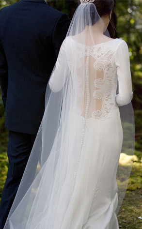Behind Bella's Wedding Gown