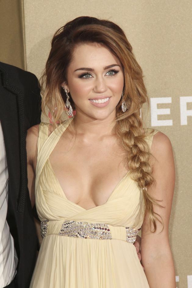 Miley Cyrus Cleavage Shot