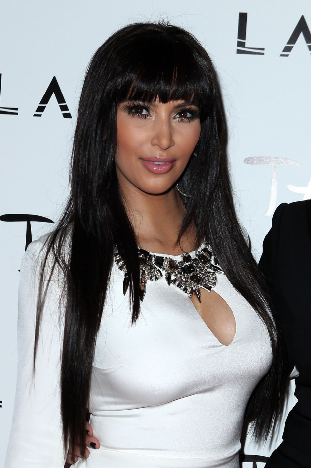 Kim Kardashian with Bangs
