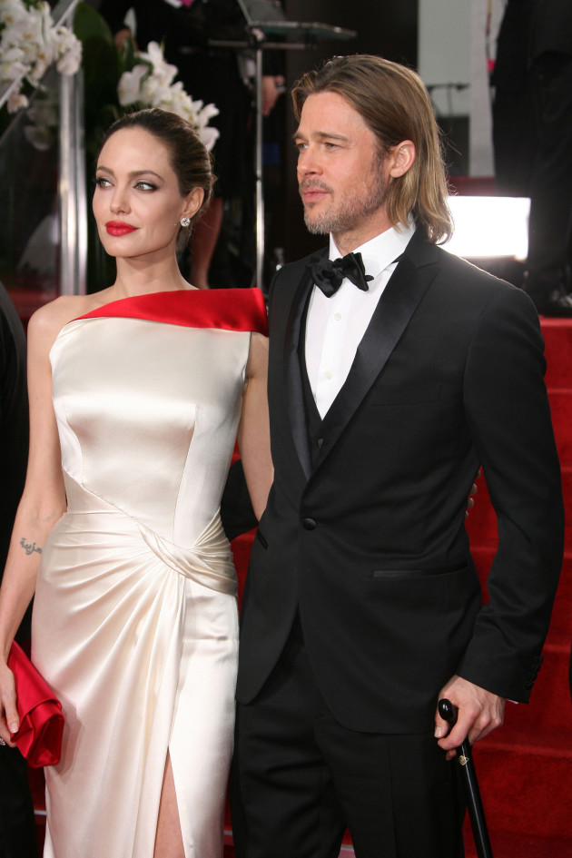 Angelina Jolie and Brad Pitt at the Golden Globes