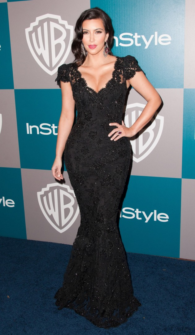 Kim Kardashian at the Golden Globes