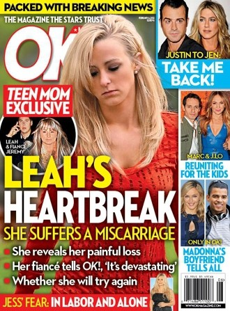 Leah Messer Miscarriage