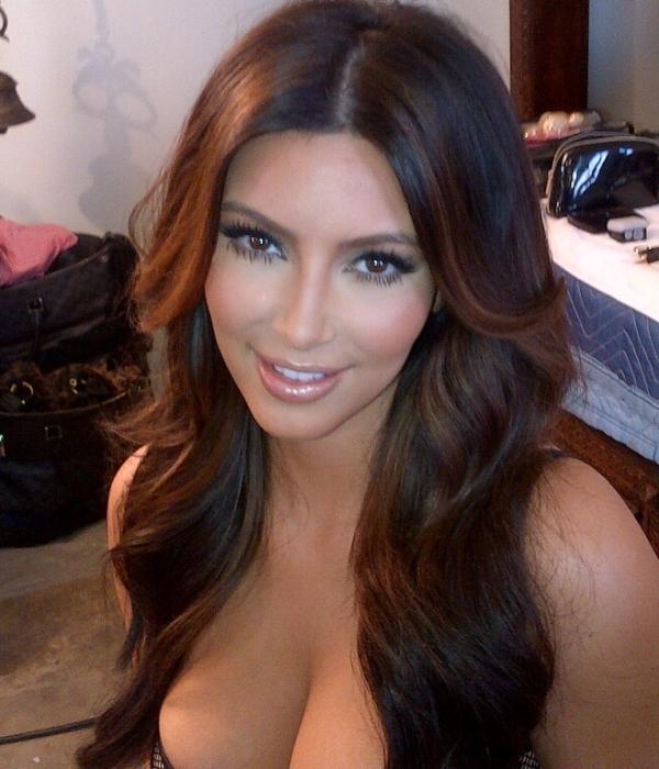 Kim Kardashian with Lighter Hair