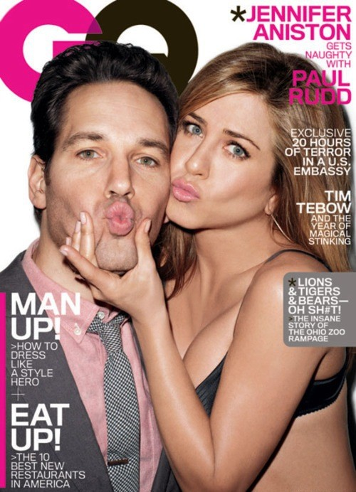 Jennifer Aniston, Paul Rudd GQ Cover