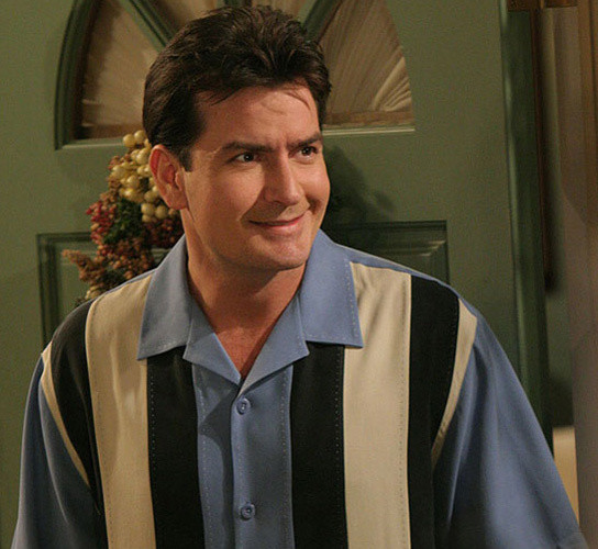 Charlie Sheen in a Bowling Shirt