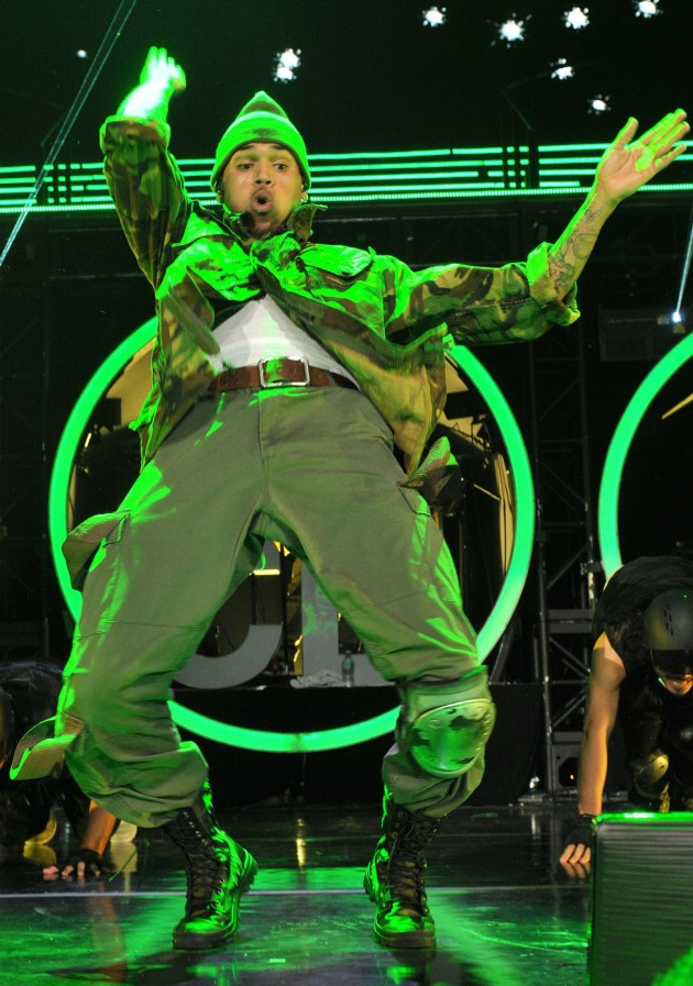 Chris Brown Gyrating