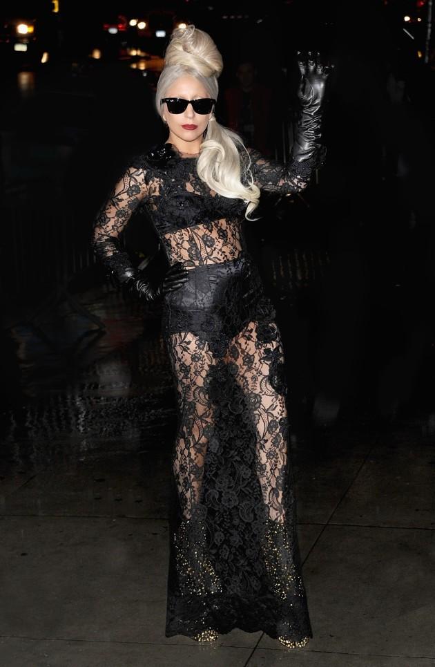 Gaga in Black