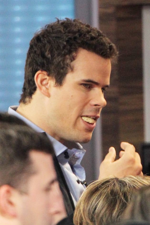 Kris Humphries on GMA Set