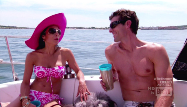 Bethenny Frankel and Jason Hoppy at Sea