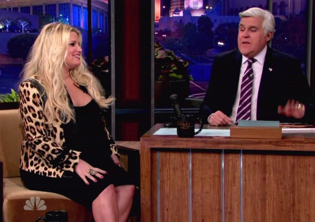 Jessica Simpson and Jay Leno