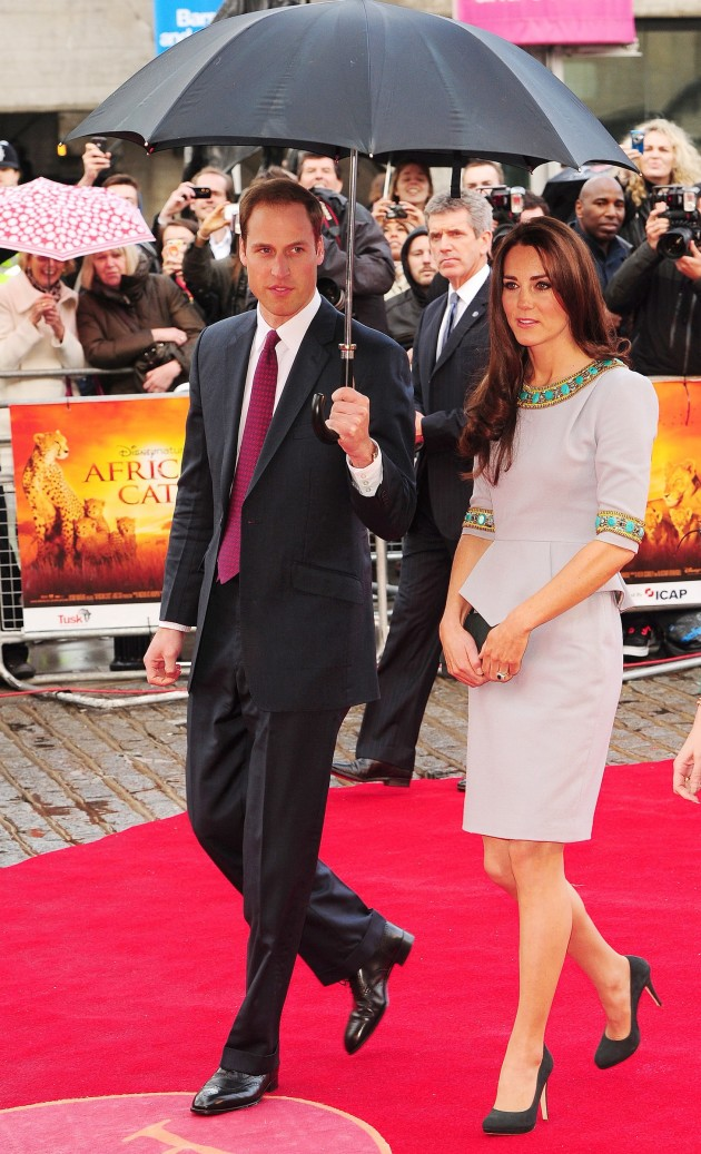 William and Kate at Movie Premiere