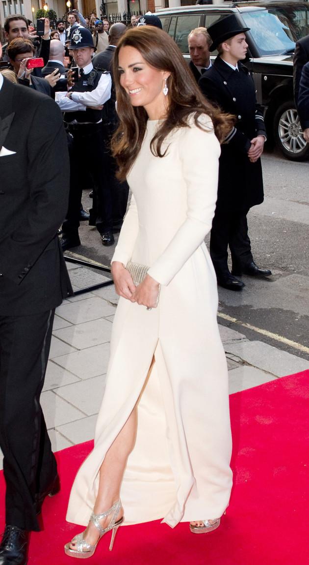 Kate Middleton Shows Some Leg