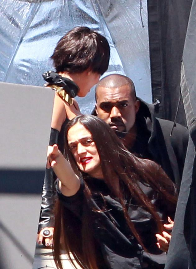 Kanye on Set